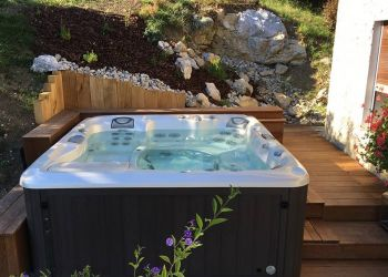 sundance-hot-tub-installation-wood-deck-Amherst