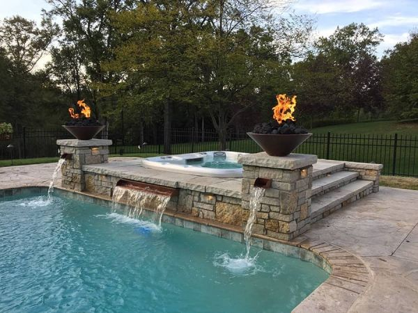 sundance-hot-tub-pool-fire-installation-Amherst