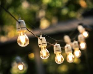 Hanging string lights
